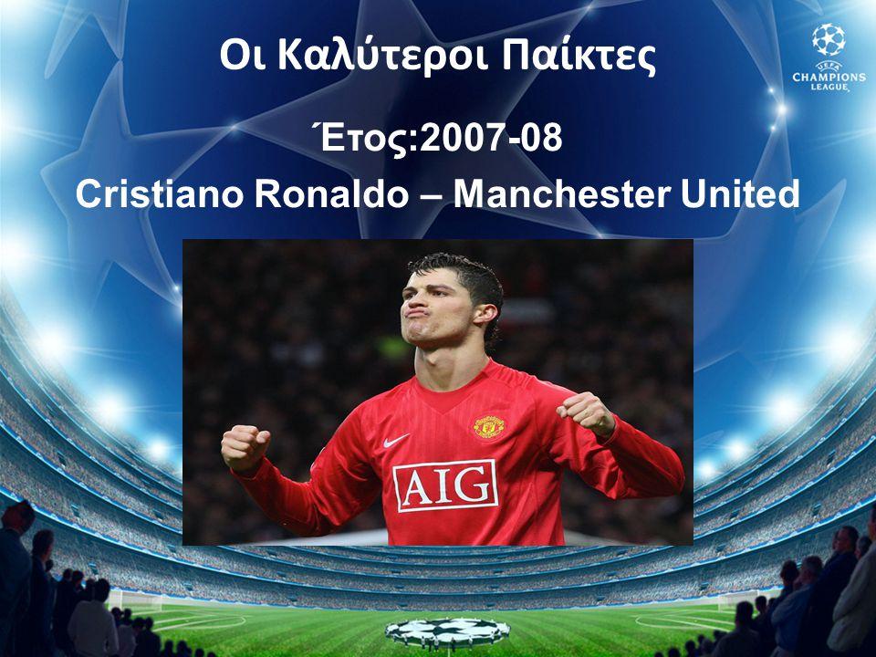 Έτος:2007-08 Cristiano Ronaldo – Manchester United