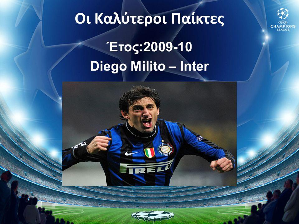 Έτος:2009-10 Diego Milito – Inter