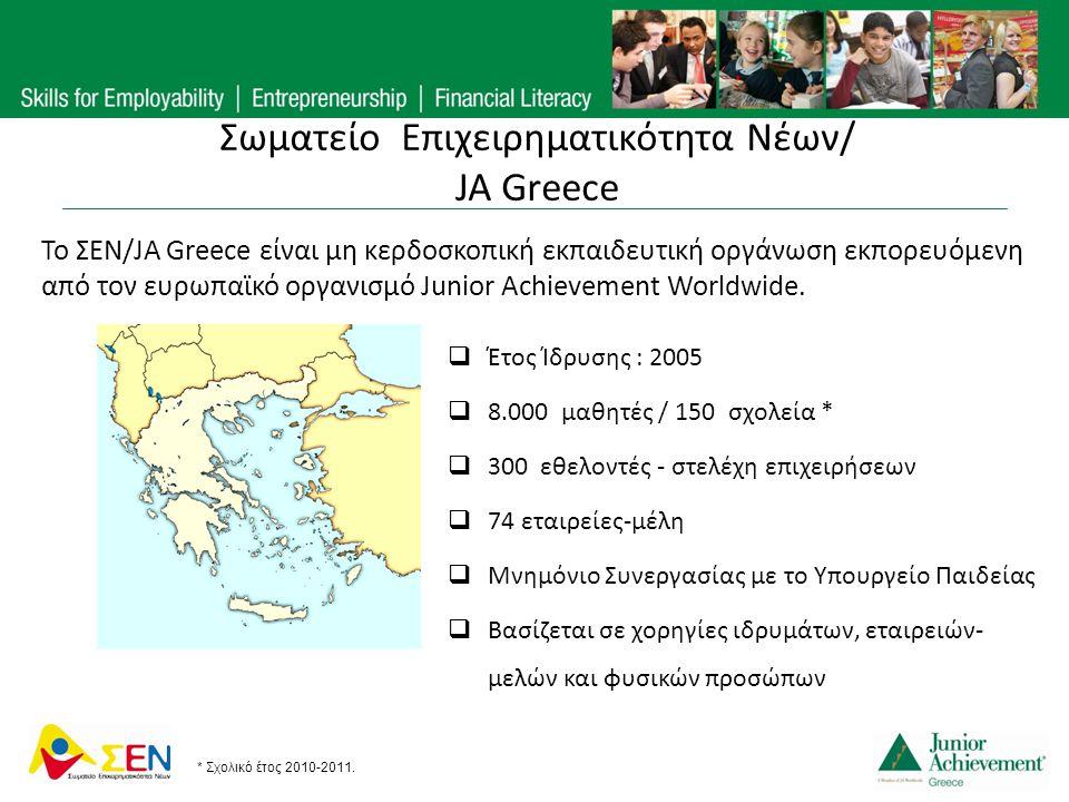 Σωματείο Επιχειρηματικότητα Νέων/ JA Greece