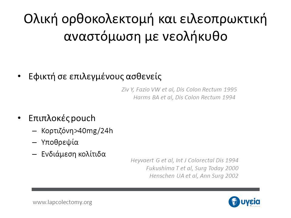 Ολική ορθοκολεκτομή και ειλεοπρωκτική αναστόμωση με νεολήκυθο