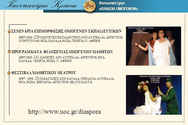 http://www.uοc.gr/diaspora Δ 31 β Κοινωνικό έργο «ΠΑΙΔΕΙΑ ΟΜΟΓΕΝΩΝ»