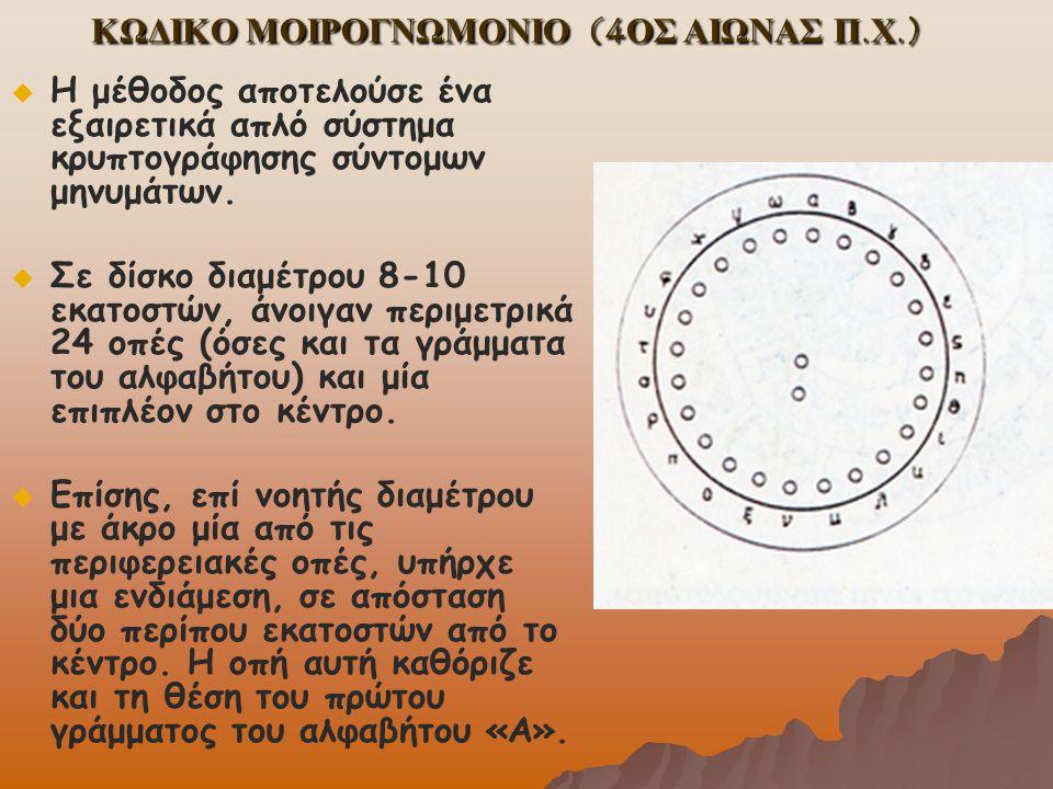 ΚΩΔΙΚΟ ΜΟΙΡΟΓΝΩΜΟΝΙΟ (4ΟΣ ΑΙΩΝΑΣ Π.Χ.)