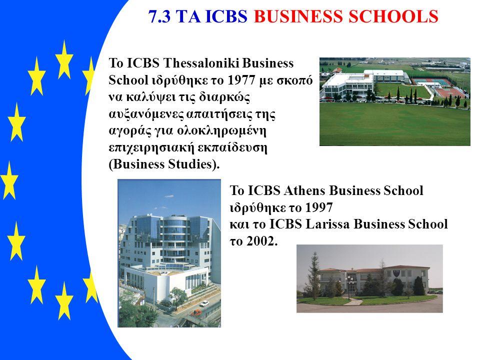 7.3 TΑ ICBS BUSINESS SCHOOLS