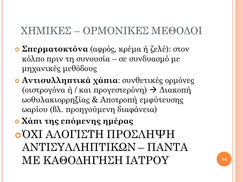 ΧΗΜΙΚΕΣ – ΟΡΜΟΝΙΚΕΣ ΜΕΘΟΔΟΙ