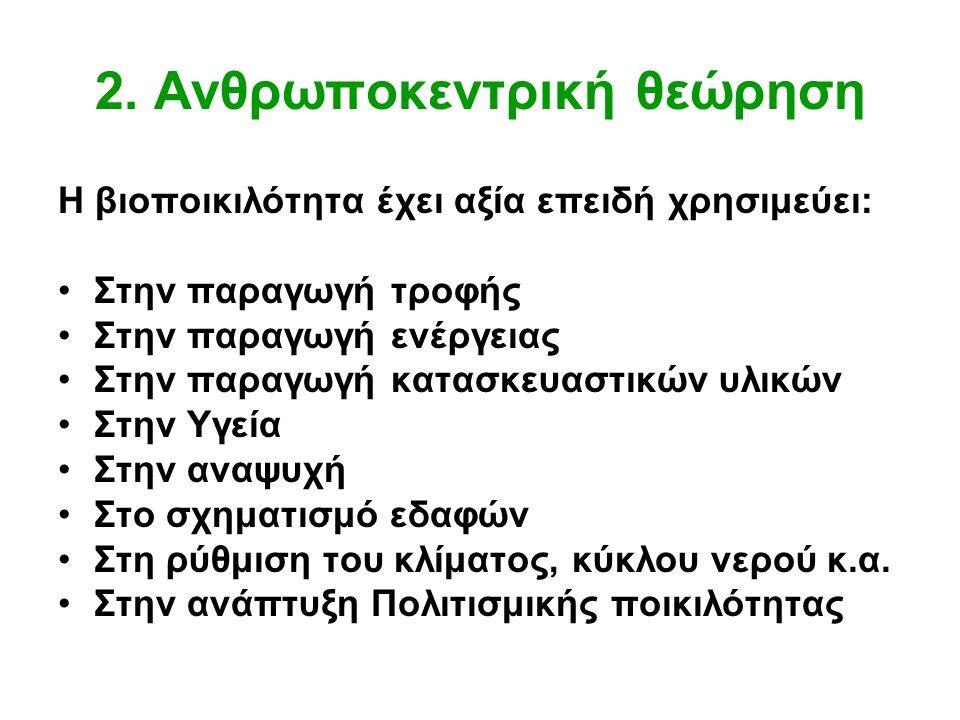 2. Ανθρωποκεντρική θεώρηση