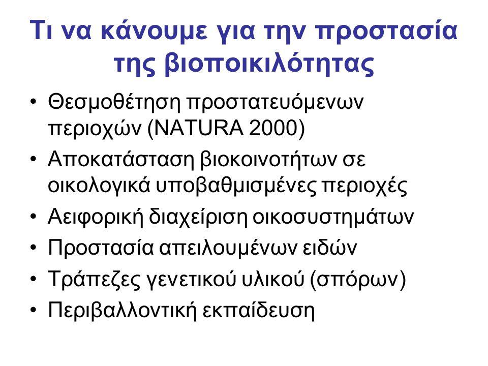 Τι να κάνουμε για την προστασία της βιοποικιλότητας