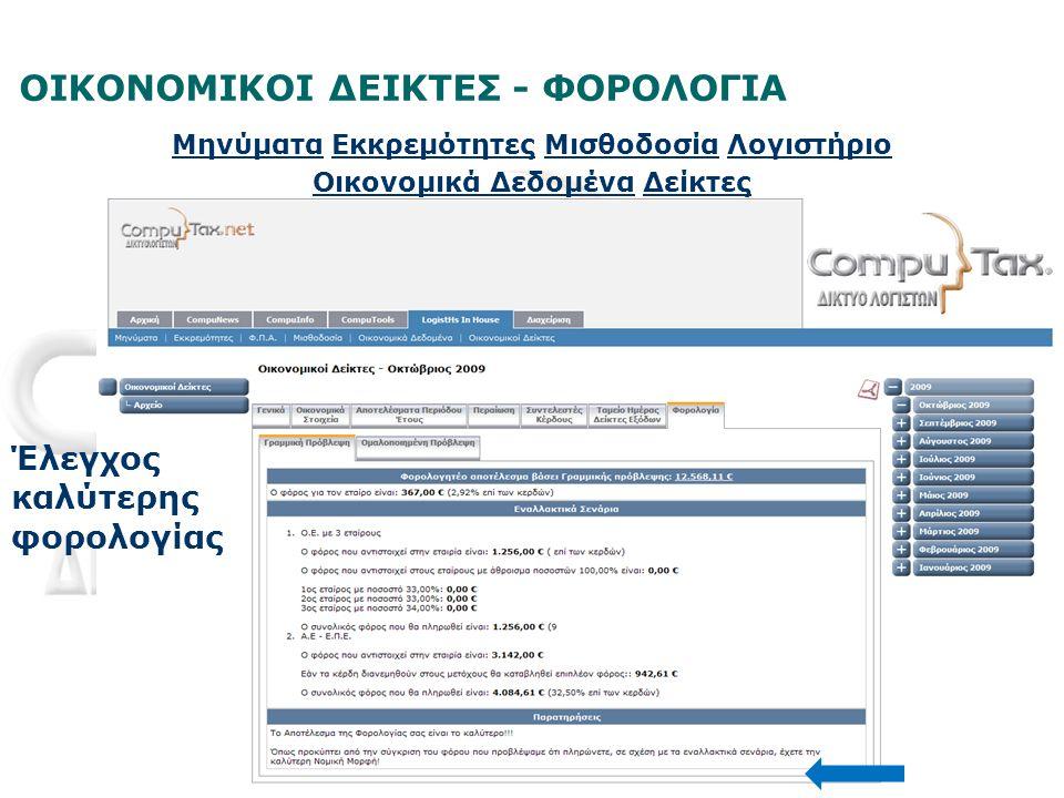 ΟΙΚΟΝΟΜΙΚΟΙ ΔΕΙΚΤΕΣ - ΦΟΡΟΛΟΓΙΑ