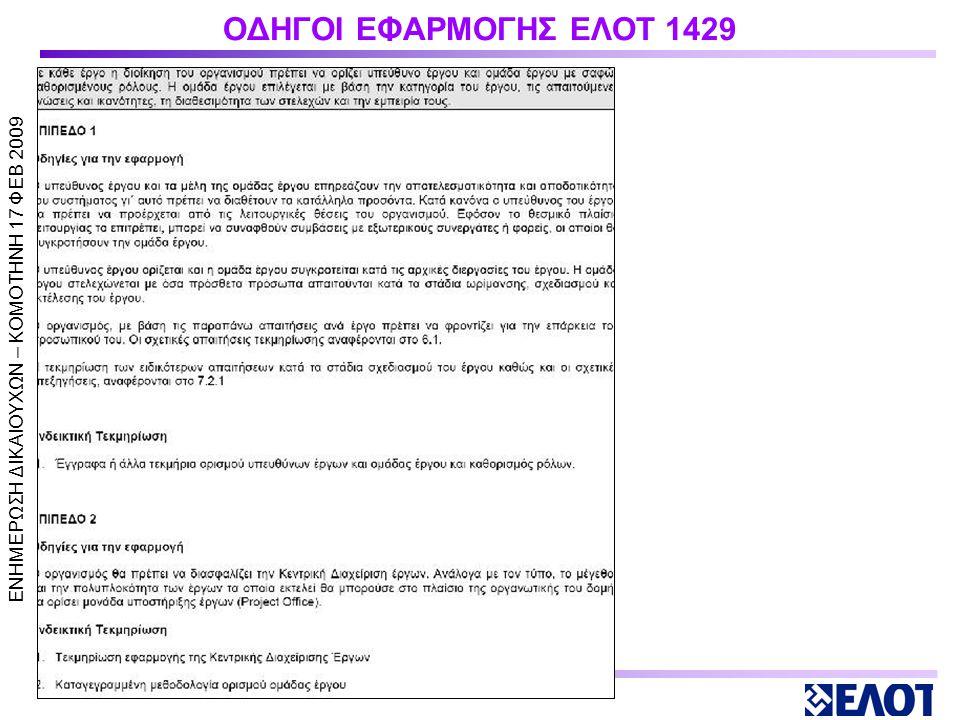 ΟΔΗΓΟΙ ΕΦΑΡΜΟΓΗΣ ΕΛΟΤ 1429 _