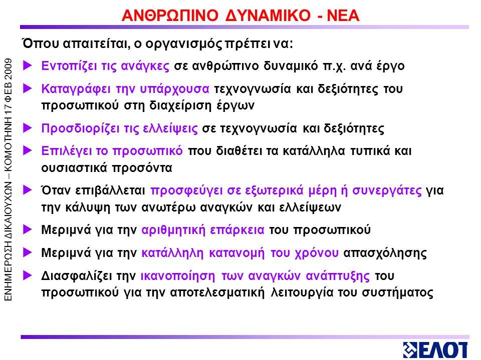 ΑΝΘΡΩΠΙΝΟ ΔΥΝΑΜΙΚΟ - ΝΕΑ