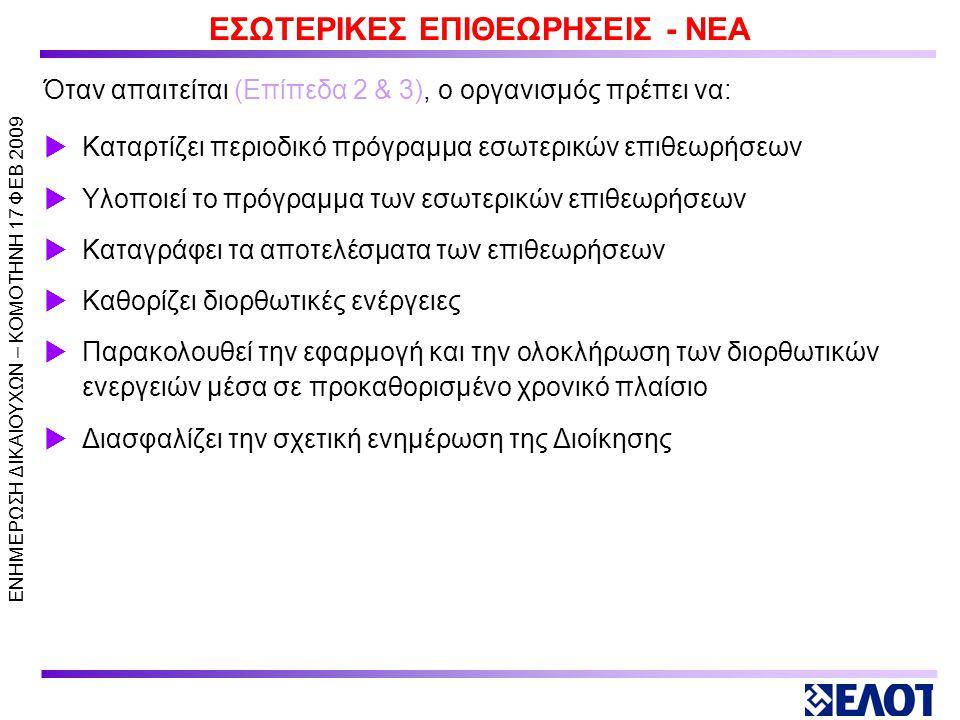 ΕΣΩΤΕΡΙΚΕΣ ΕΠΙΘΕΩΡΗΣΕΙΣ - ΝΕΑ