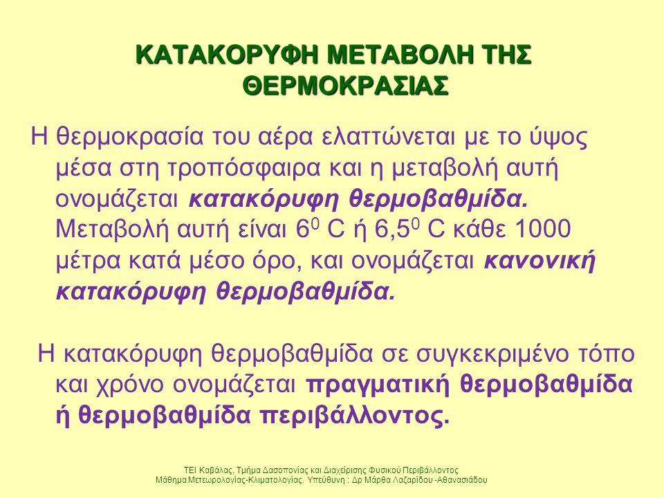 ΚΑΤΑΚΟΡΥΦΗ ΜΕΤΑΒΟΛΗ ΤΗΣ ΘΕΡΜΟΚΡΑΣΙΑΣ