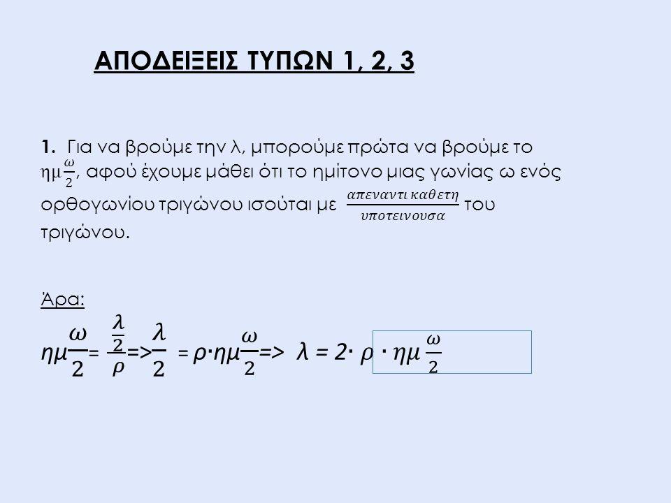 ημ 𝜔 2 = 𝜆 2 𝜌 => 𝜆 2 = ρ∙ημ 𝜔 2 => λ = 2∙𝜌∙𝜂𝜇 𝜔 2
