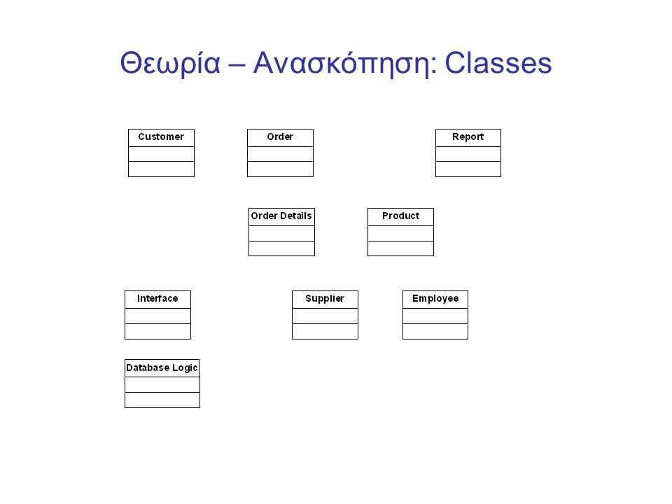 Θεωρία – Ανασκόπηση: Classes