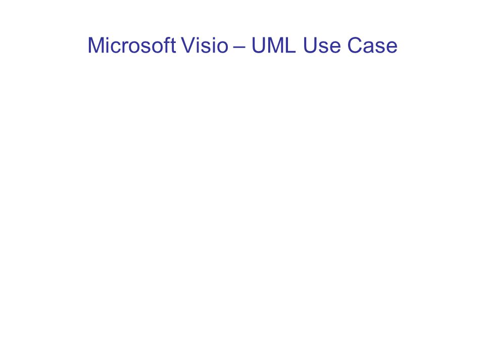 Microsoft Visio – UML Use Case