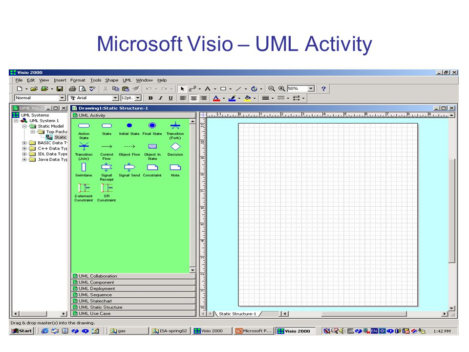 Microsoft Visio – UML Activity
