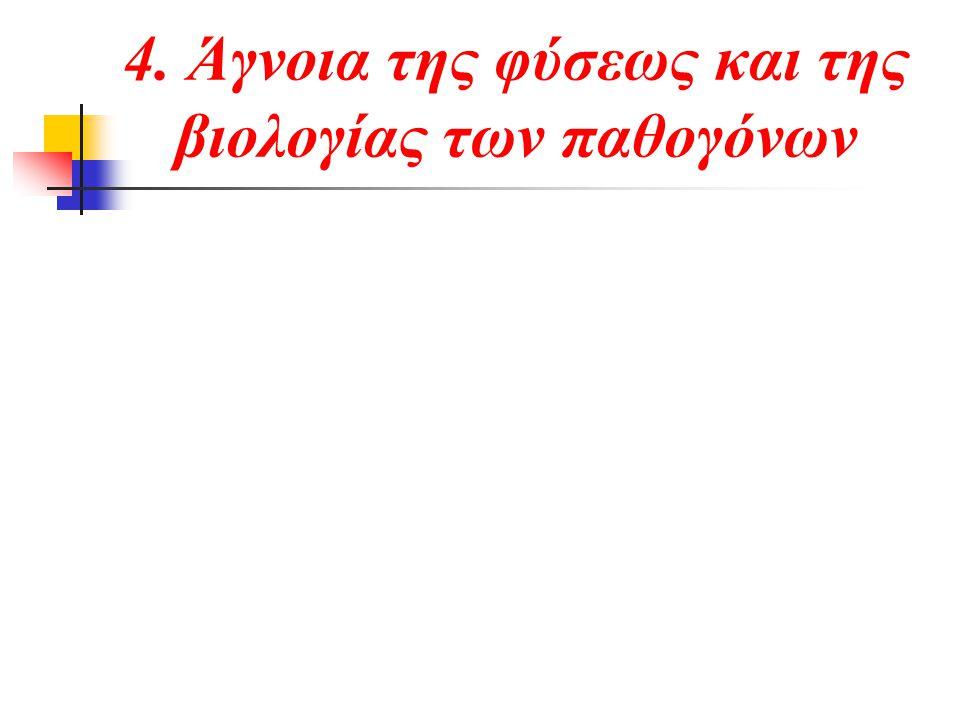 4. Άγνοια της φύσεως και της βιολογίας των παθογόνων
