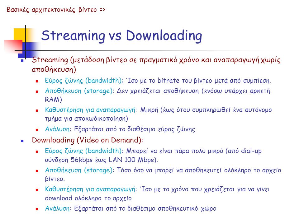 Streaming vs Downloading