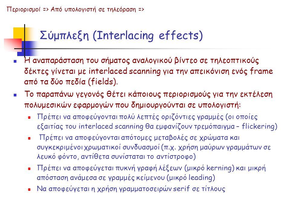 Σύμπλεξη (Interlacing effects)