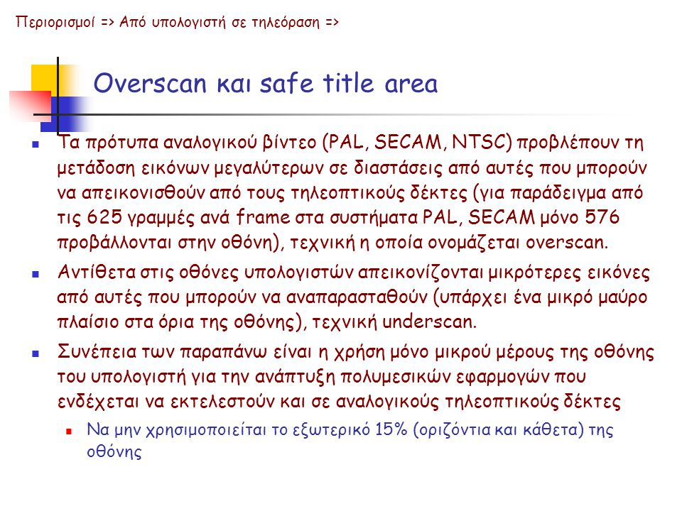 Overscan και safe title area