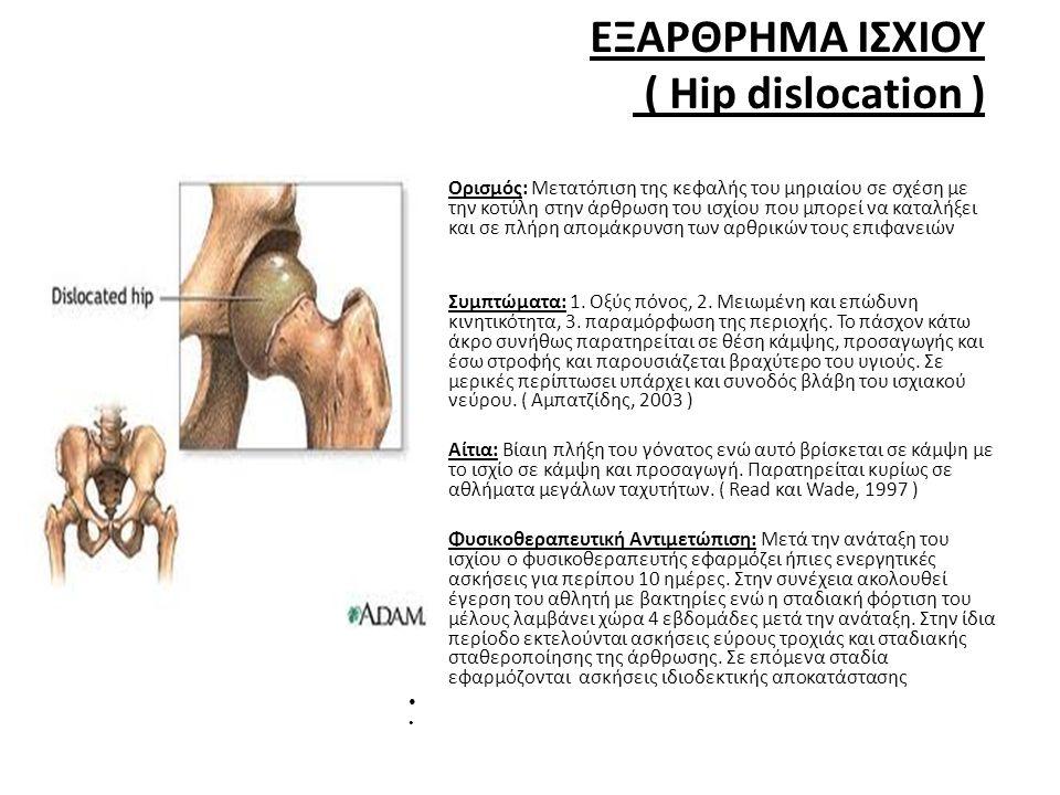ΕΞΑΡΘΡΗΜΑ ΙΣΧΙΟΥ ( Hip dislocation )