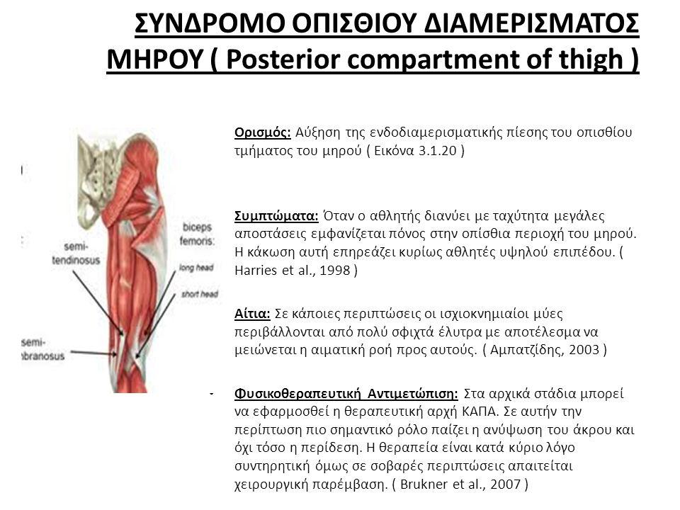 ΣΥΝΔΡΟΜΟ ΟΠΙΣΘΙΟΥ ΔΙΑΜΕΡΙΣΜΑΤΟΣ ΜΗΡΟΥ ( Posterior compartment of thigh )