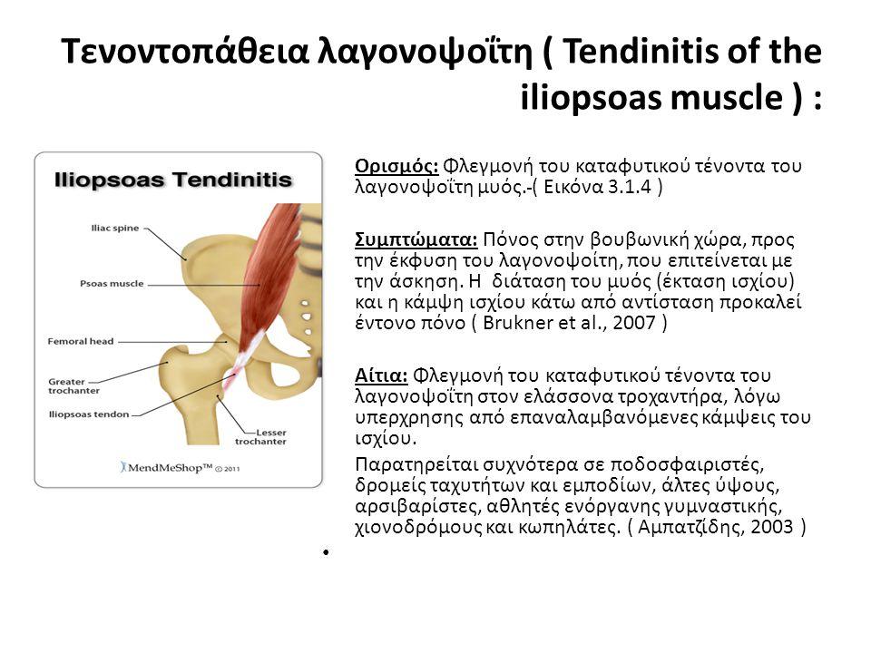 Τενοντοπάθεια λαγονοψοΐτη ( Tendinitis of the iliopsoas muscle ) :