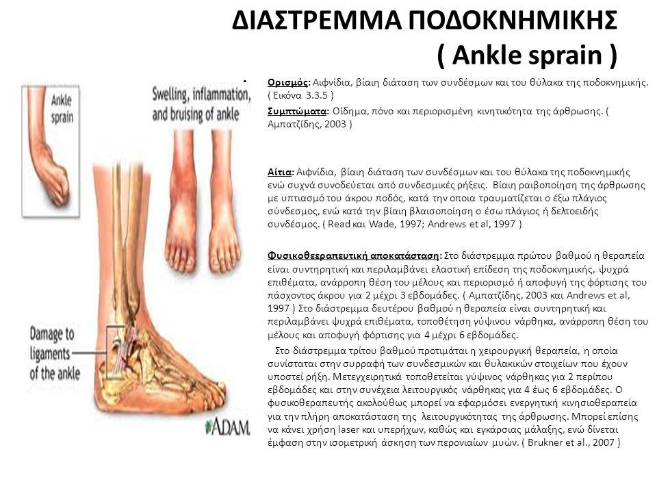 ΔΙΑΣΤΡΕΜΜΑ ΠΟΔΟΚΝΗΜΙΚΗΣ ( Ankle sprain )