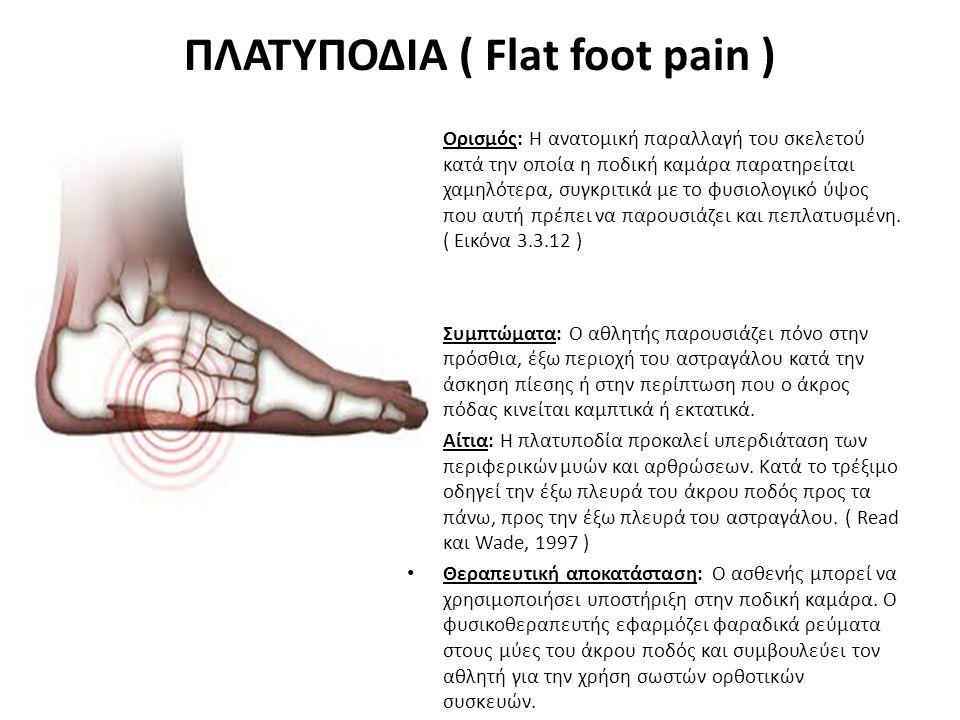 ΠΛΑΤΥΠΟΔΙΑ ( Flat foot pain )