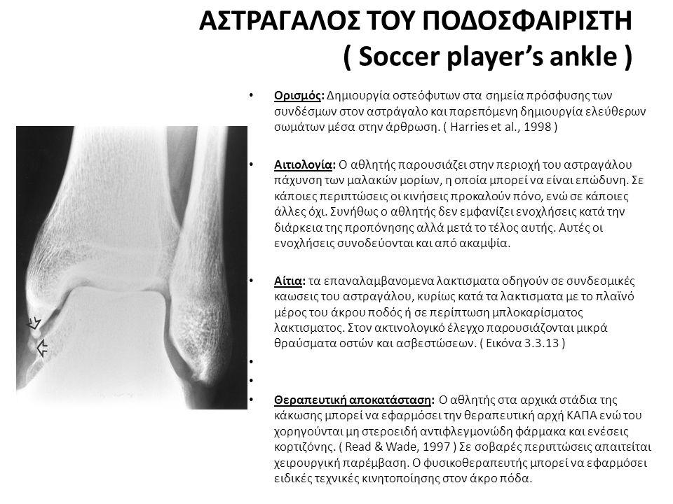 ΑΣΤΡΑΓΑΛΟΣ ΤΟΥ ΠΟΔΟΣΦΑΙΡΙΣΤΗ ( Soccer player's ankle )