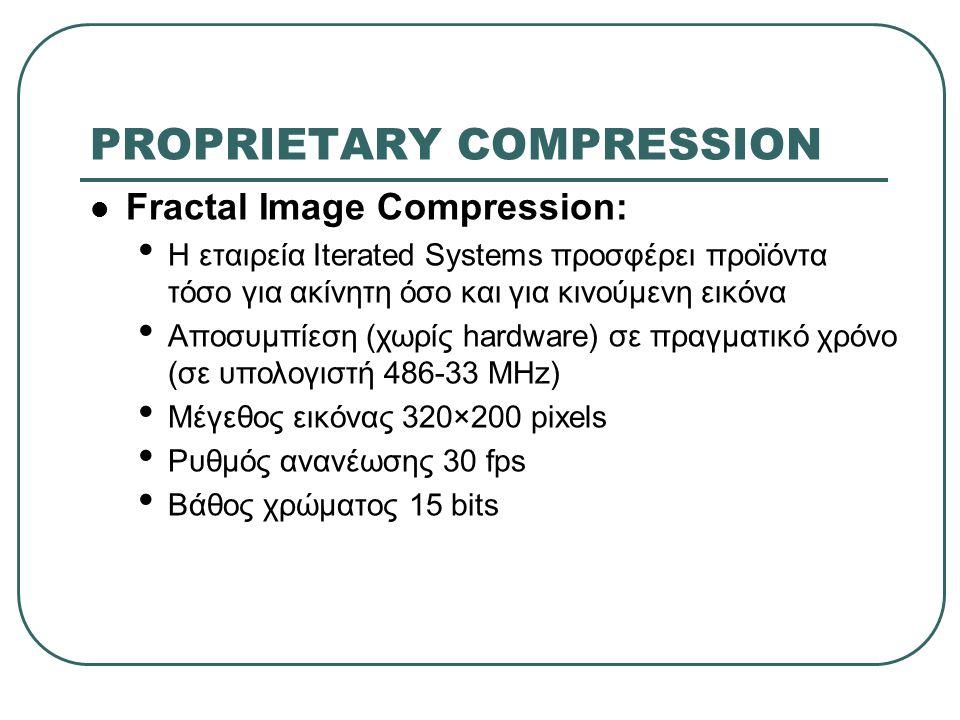 PROPRIETARY COMPRESSION