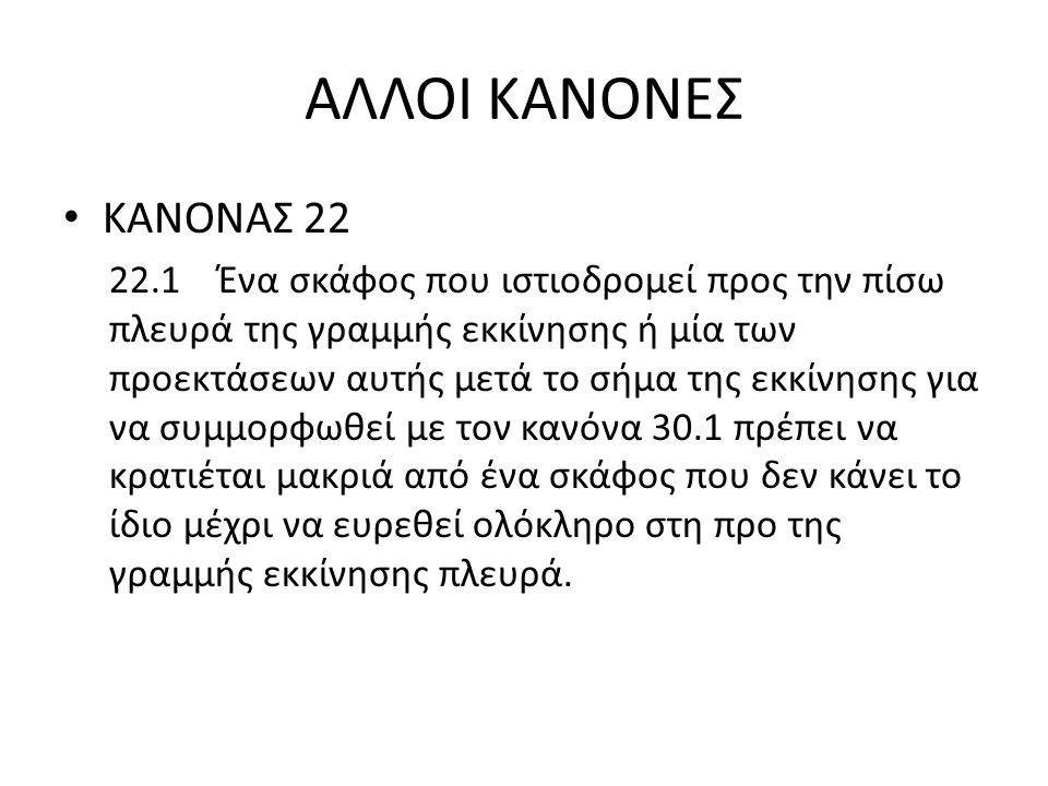 ΑΛΛΟΙ ΚΑΝΟΝΕΣ ΚΑΝΟΝΑΣ 22.