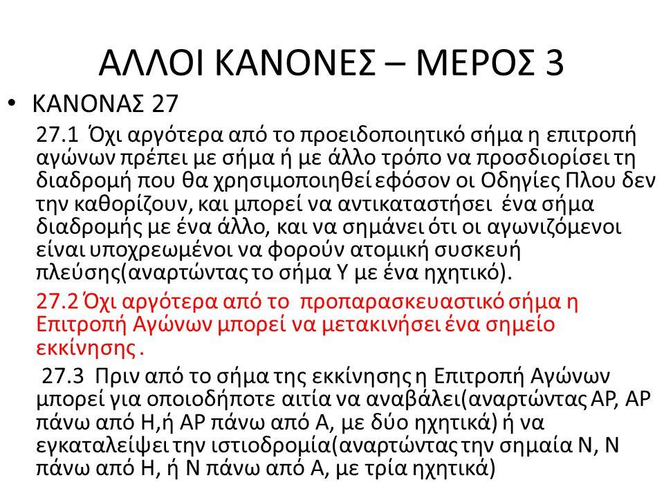 ΑΛΛΟΙ ΚΑΝΟΝΕΣ – ΜΕΡΟΣ 3 ΚΑΝΟΝΑΣ 27