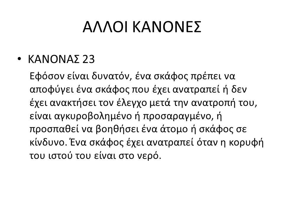 ΑΛΛΟΙ ΚΑΝΟΝΕΣ ΚΑΝΟΝΑΣ 23.