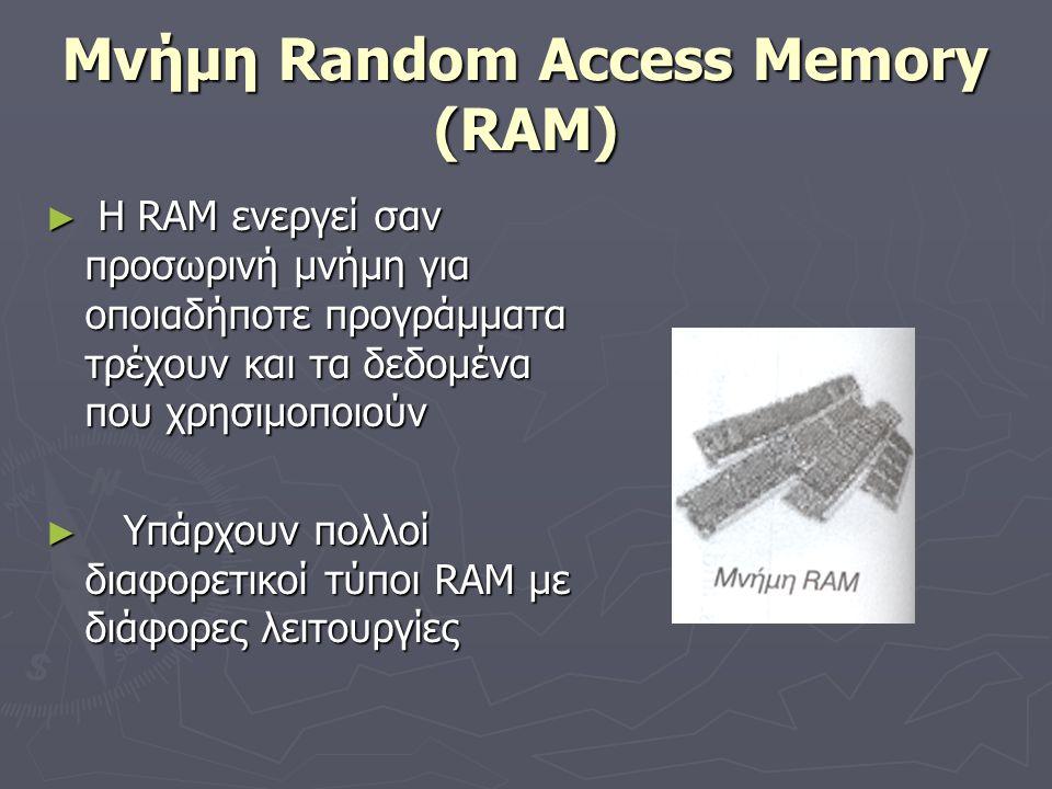 Μνήμη Random Access Memory (RAM)