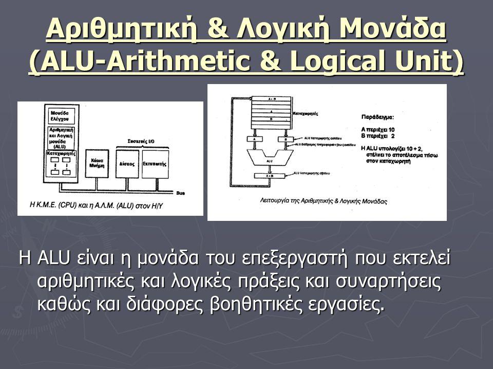 Αριθμητική & Λογική Μονάδα (ALU-Arithmetic & Logical Unit)