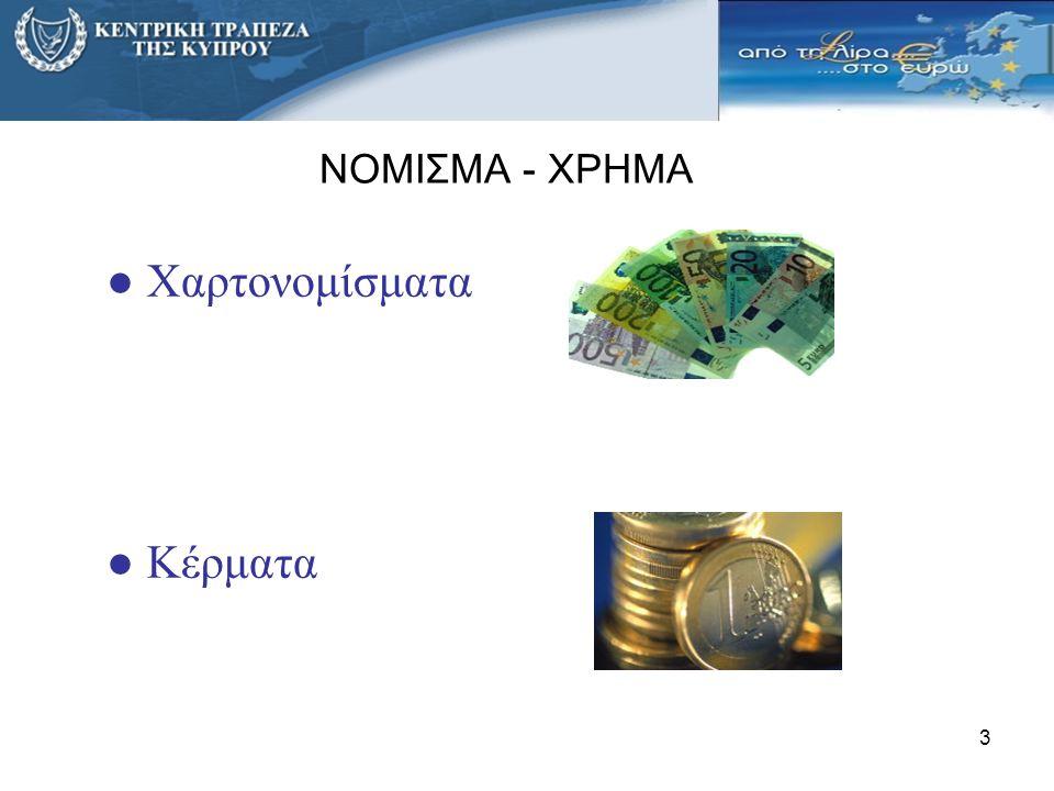 ΝΟΜΙΣΜΑ - ΧΡΗΜΑ Χαρτονομίσματα Κέρματα