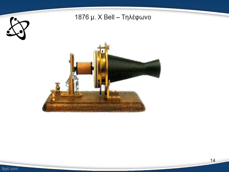 1876 μ. Χ Bell – Τηλέφωνο