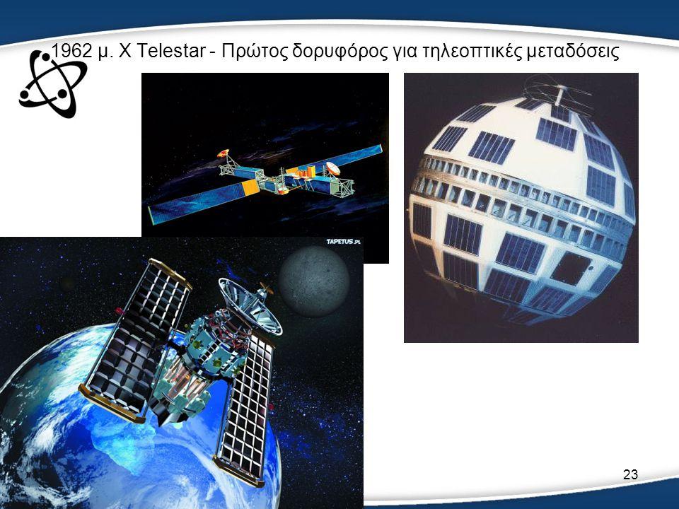 1962 μ. Χ Telestar - Πρώτος δορυφόρος για τηλεοπτικές μεταδόσεις
