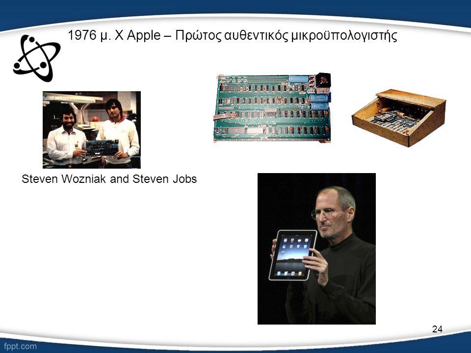1976 μ. Χ Apple – Πρώτος αυθεντικός μικροϋπολογιστής