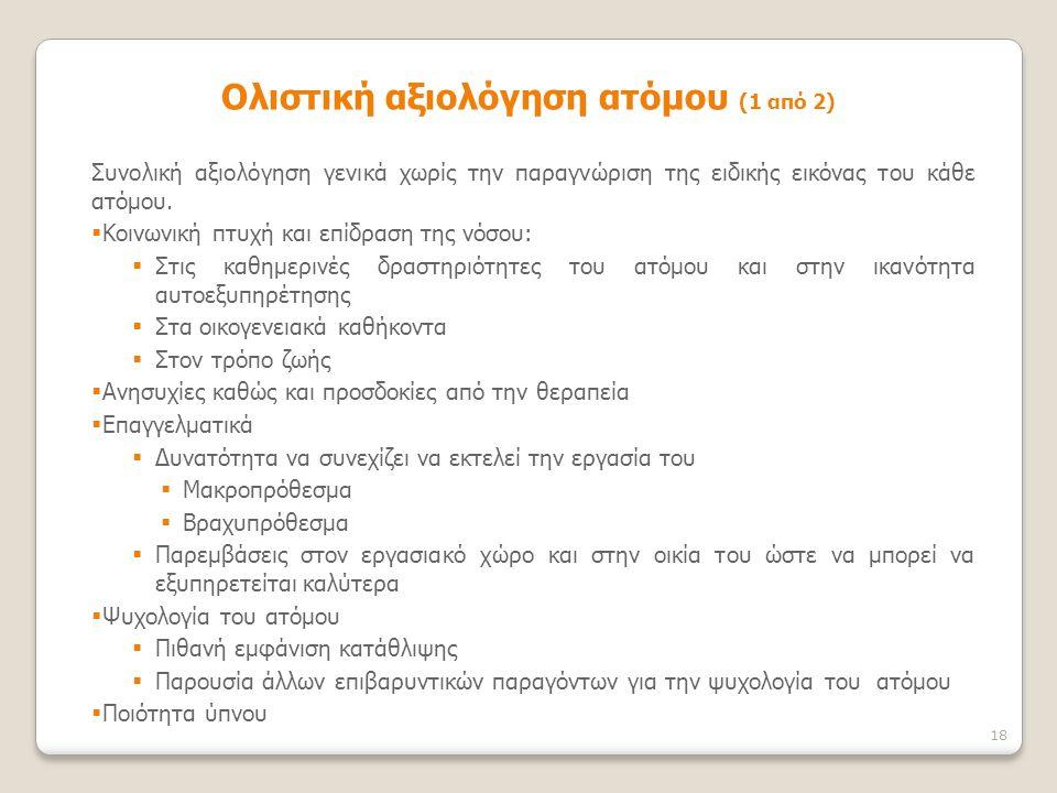 Ολιστική αξιολόγηση ατόμου (1 από 2)