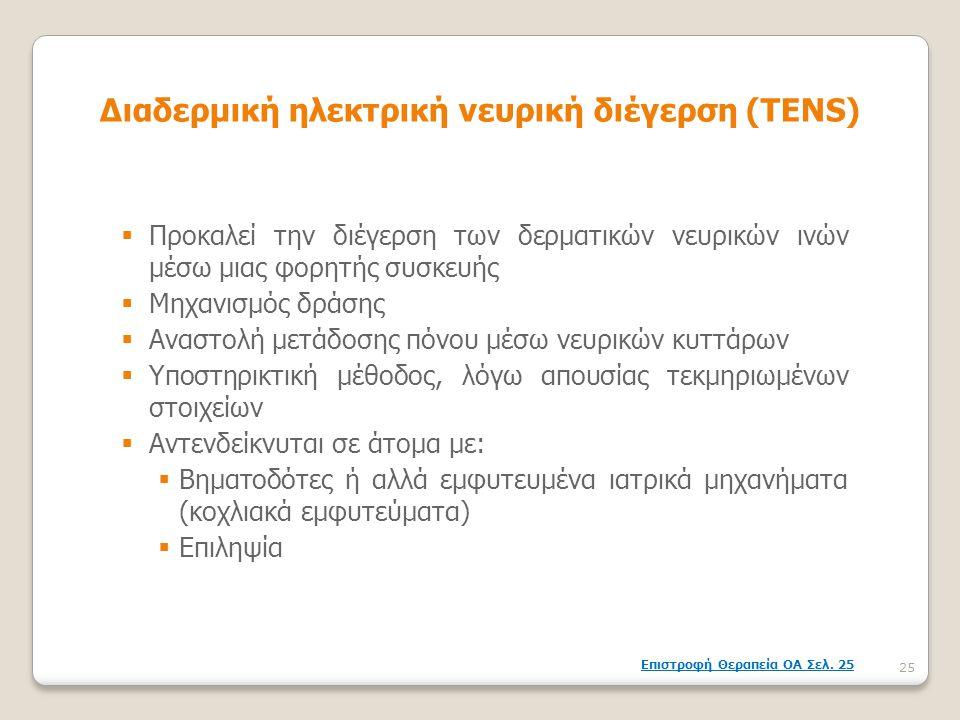 Διαδερμική ηλεκτρική νευρική διέγερση (TENS)