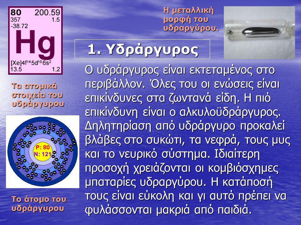 Η μεταλλική μορφή του υδραργύρου.