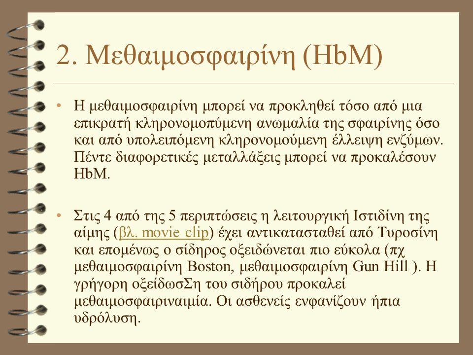 2. Μεθαιμοσφαιρίνη (HbM)