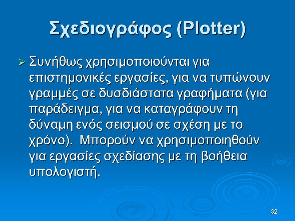 Σχεδιογράφος (Plotter)