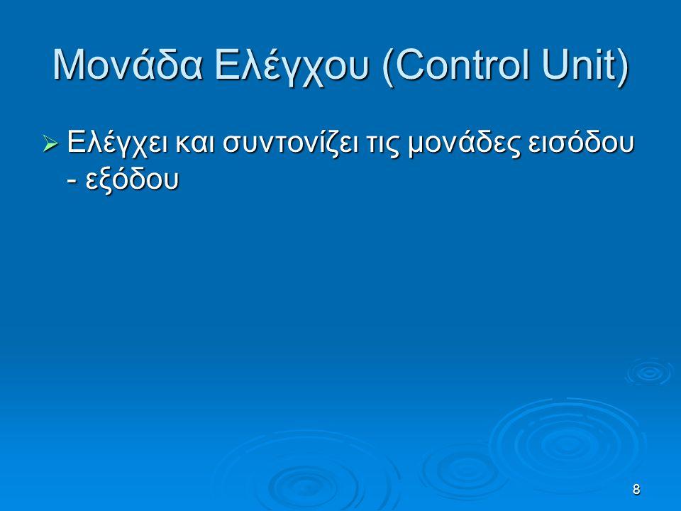 Μονάδα Ελέγχου (Control Unit)