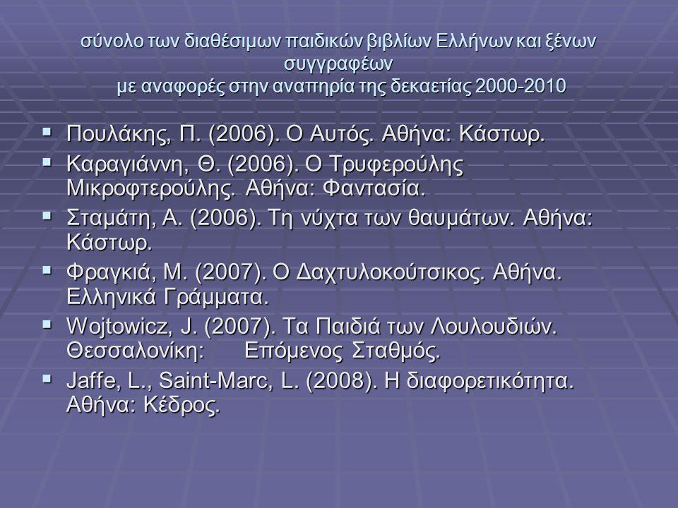 Πουλάκης, Π. (2006). Ο Αυτός. Αθήνα: Κάστωρ.