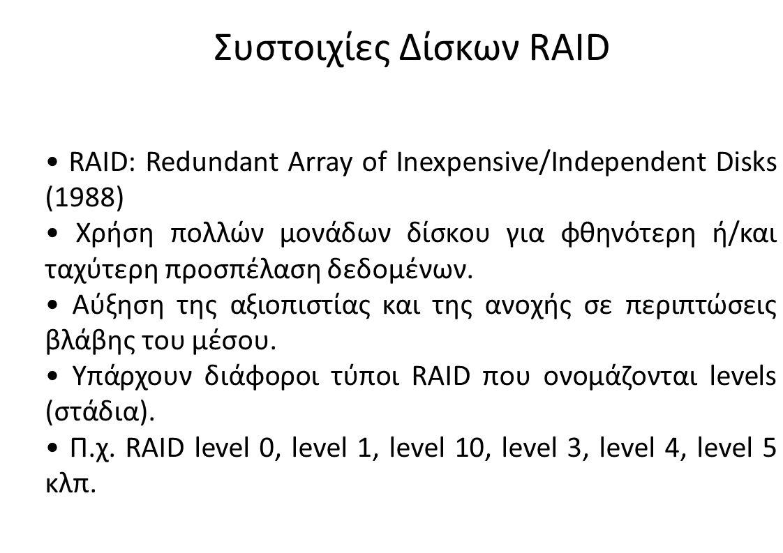 Συστοιχίες Δίσκων RAID