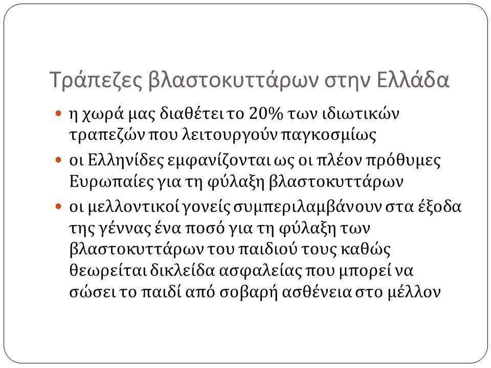 Τράπεζες βλαστοκυττάρων στην Ελλάδα
