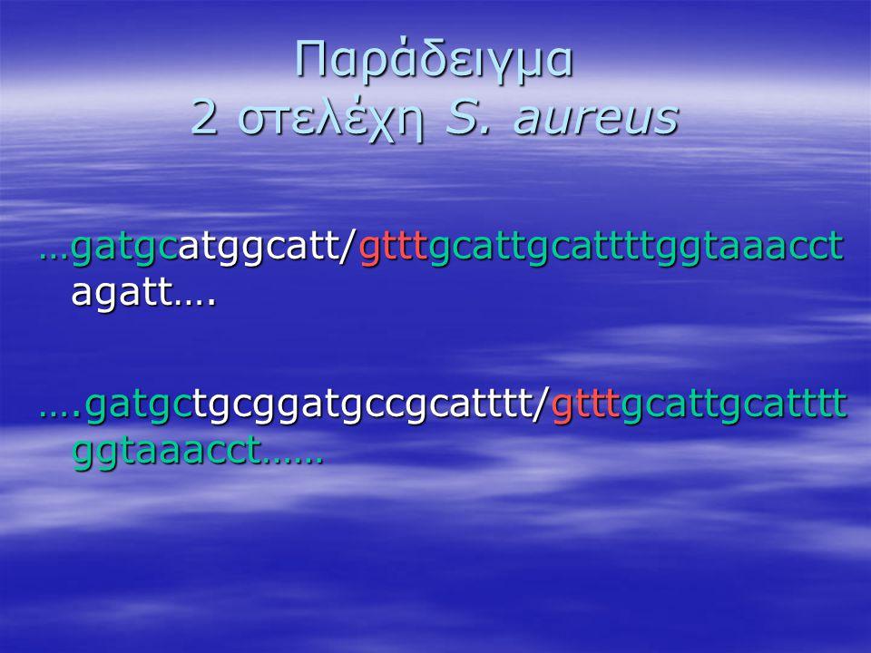Παράδειγμα 2 στελέχη S. aureus