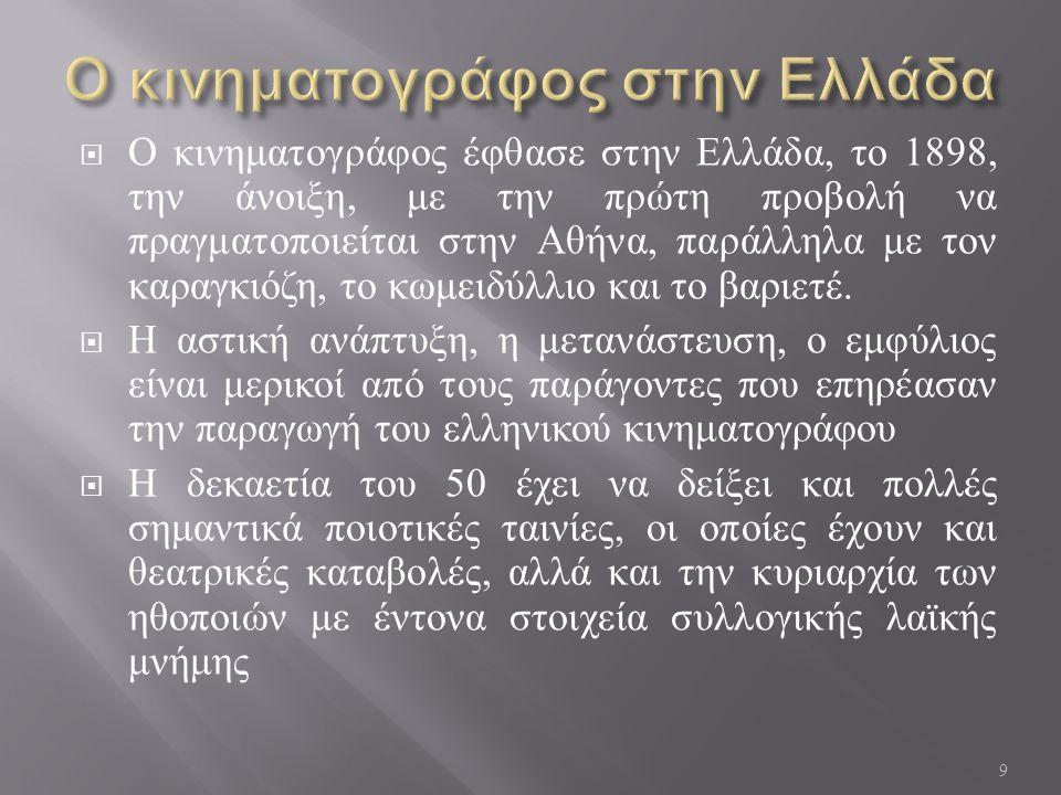 Ο κινηματογράφος στην Ελλάδα